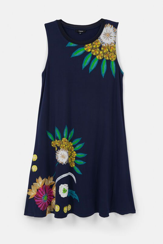 Desigual 'Love Others' Short Floral Dress - Navy XS