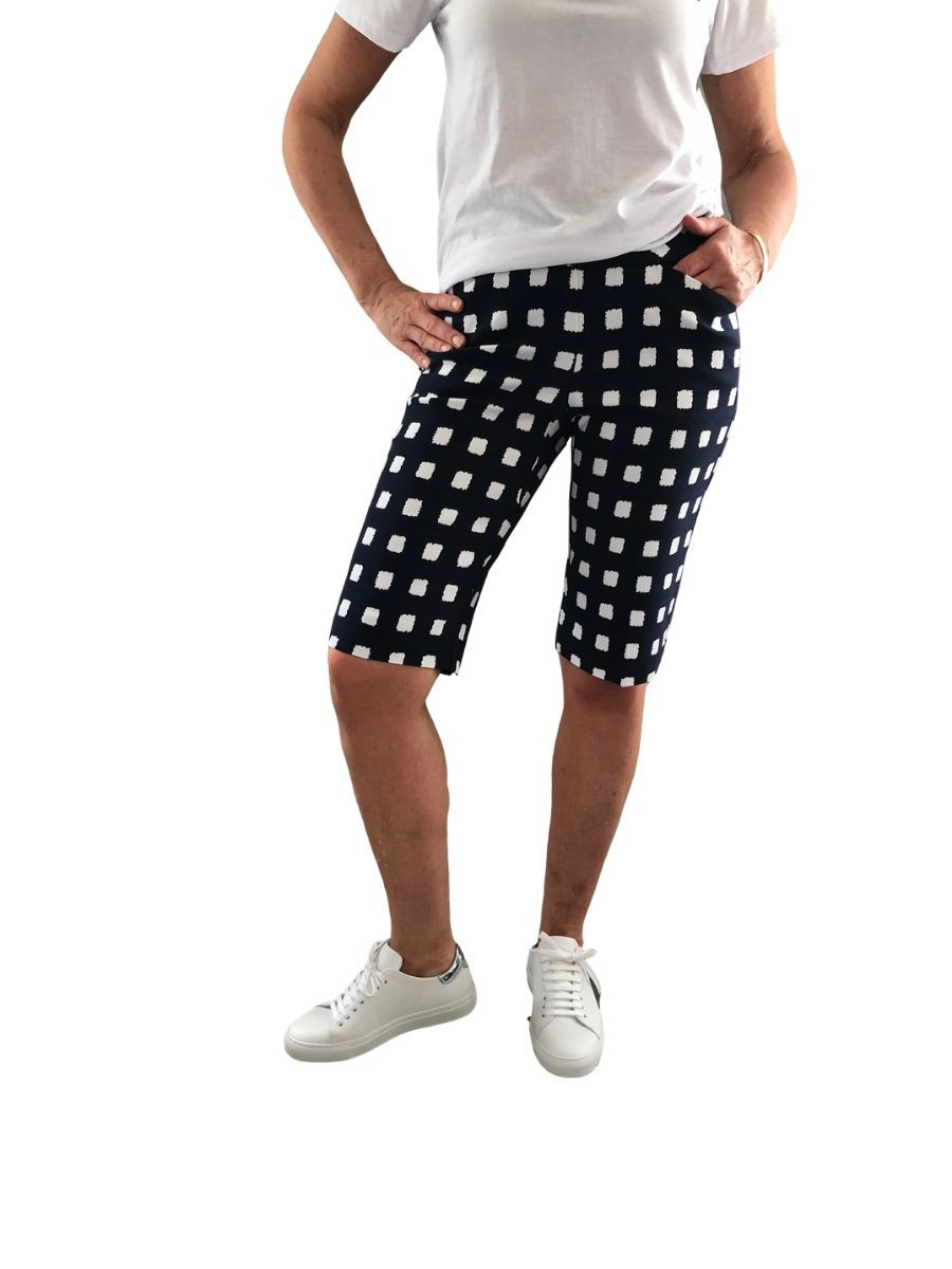 Up Pants 66843 Techno 13' Shorts - Navy White Cubes UK 10 / USA 6
