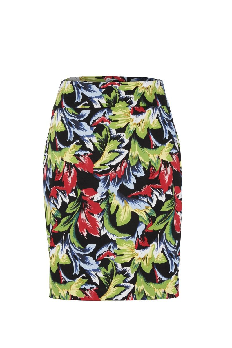Up! Pants 70523 Skirt - Leafy Black UK 12 / USA 8