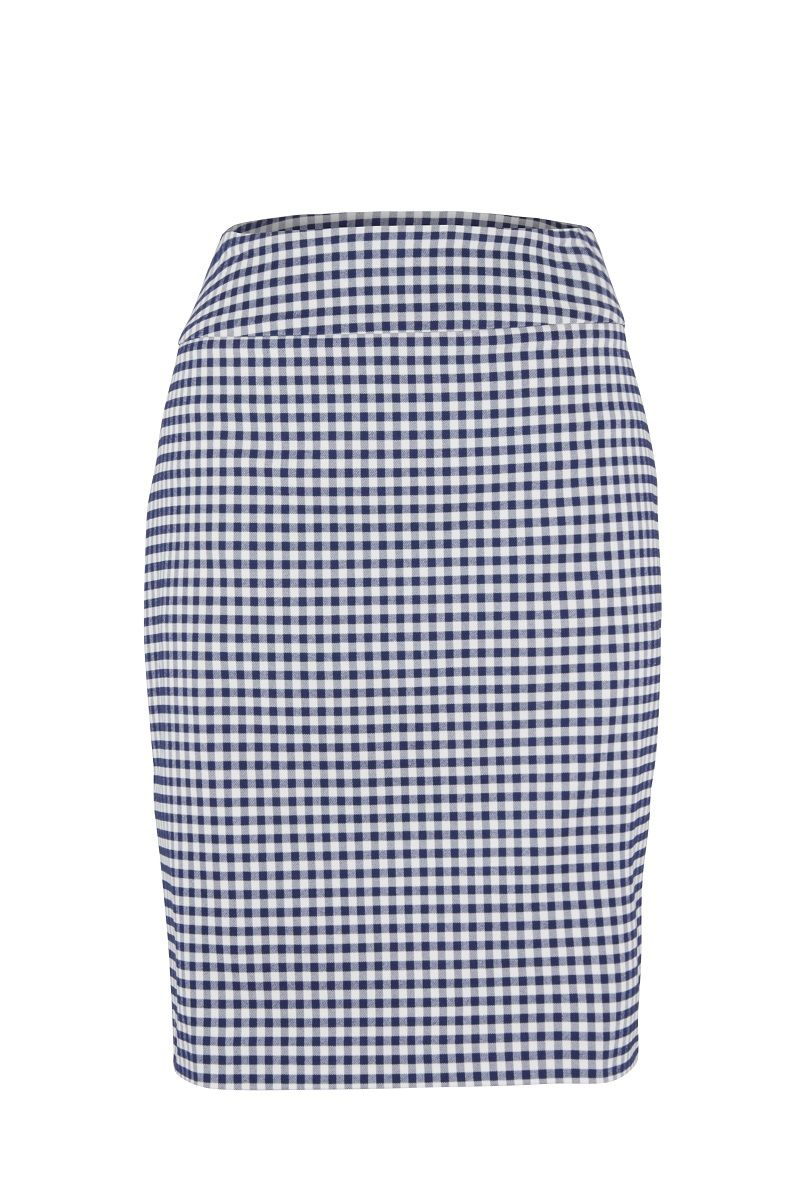 Up! Pants 70524 Skirt - Navy Gingham UK 8 / USA 4
