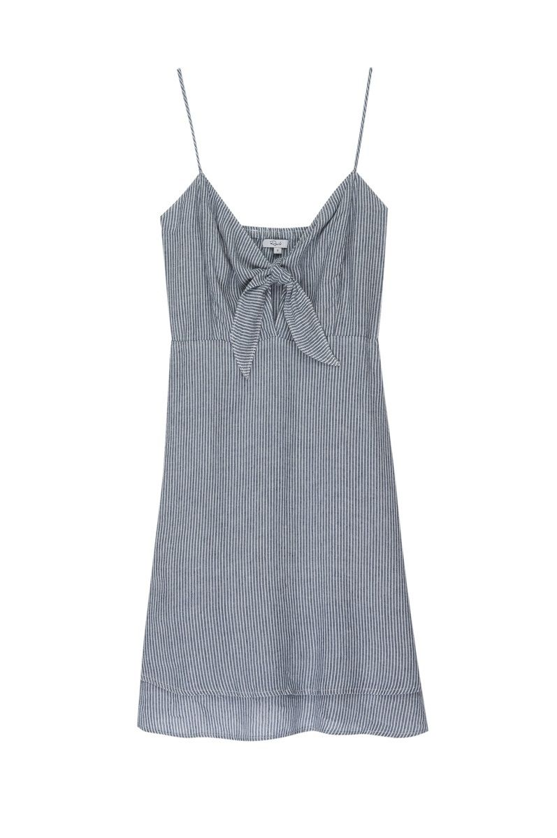 Rails August Dress - Indigo Pinstripe L