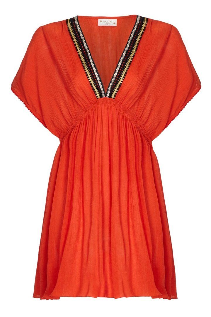 Nooki Lagoon Dress - Orange Large