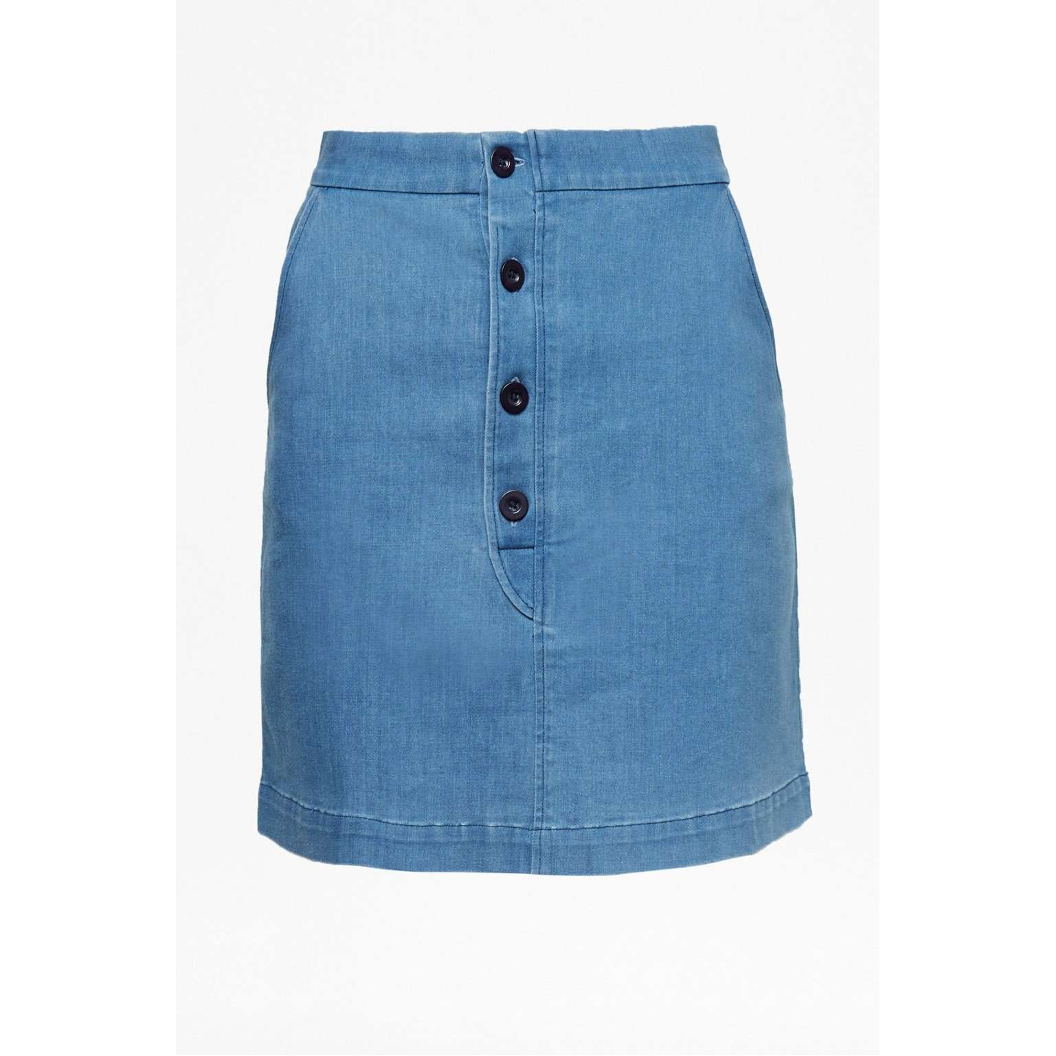 Desert Denim Button Short Skirt 12
