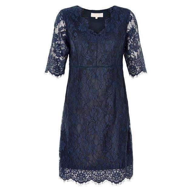 Lace Adriana Dress Royal Navy Blue 16