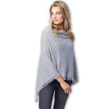 REPEAT Cashmere Light Grey Poncho