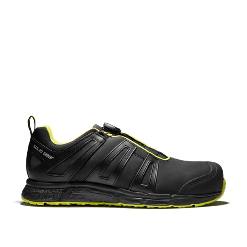 Snickers Solid Gear Venture Trainer Shoe-SG76007 Black / Green - 36