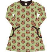 Maxomorra Owl, Long Sleeve Dress 98/104