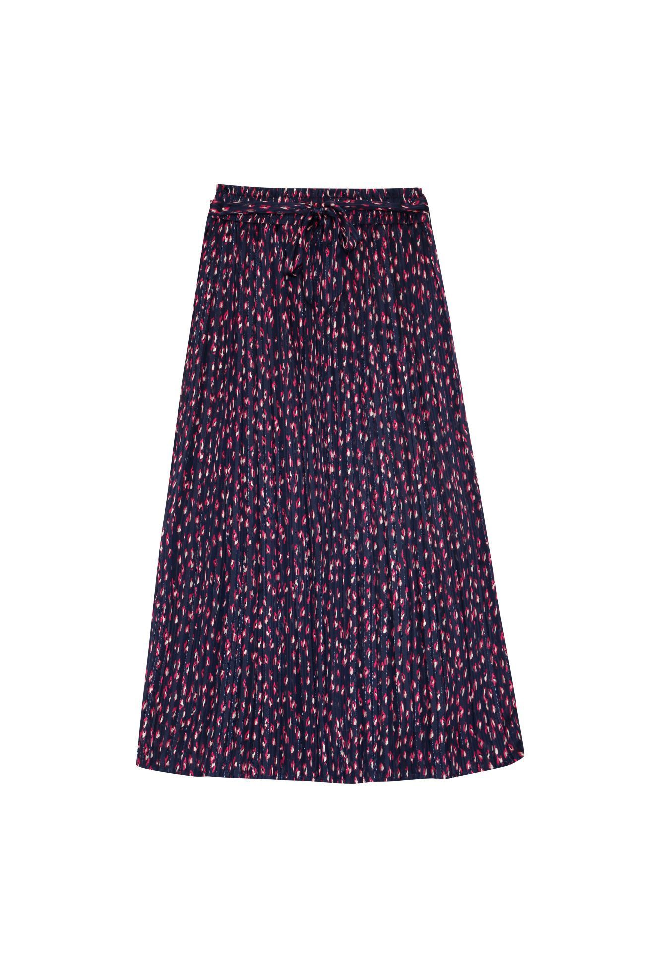 Beverly Long Pleated Skirt NAVY - L