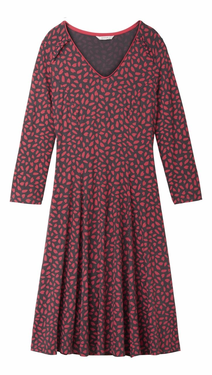 Sandwich Print Jersey Fitted Dress Cerise FUCHSIA - XL