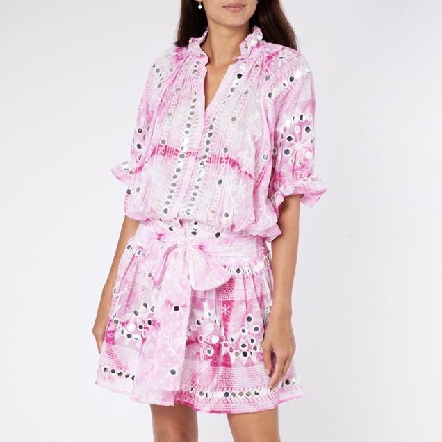 Juliet Dunne Pink Hip Tie Dress 1