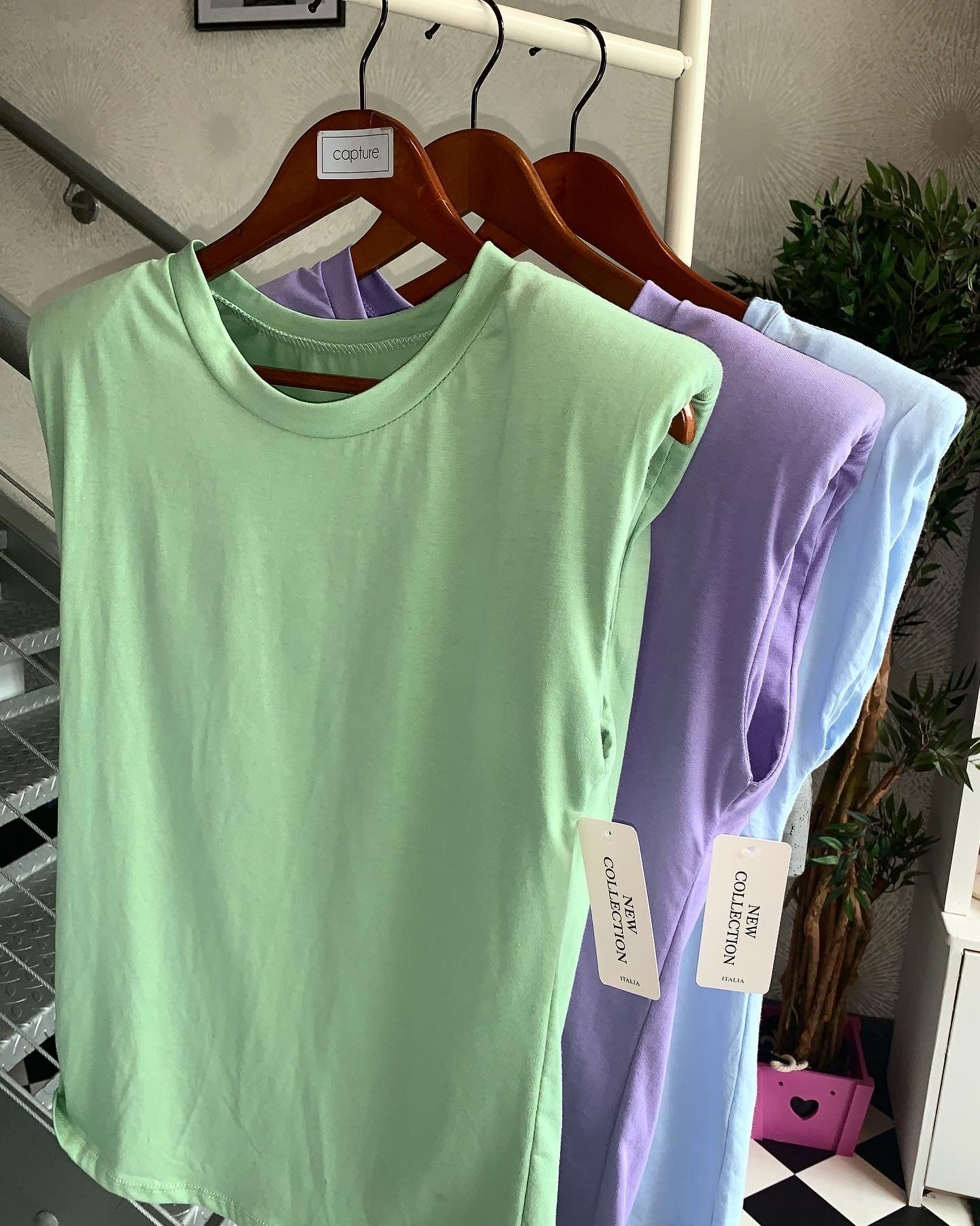 Basic T-Shirt With Shoulder Pad Detail - Various Colours Yellow - One size (8-14)