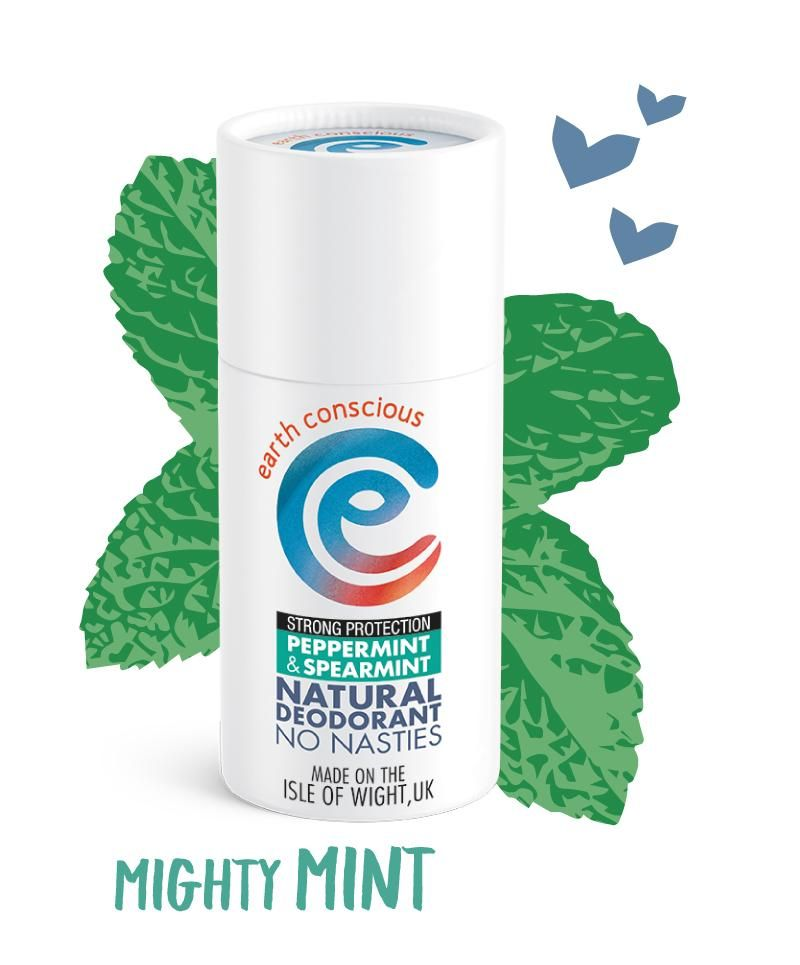 Peppermint & Spearmint Strong Protection Natural Deodorant - Earth Conscious - Vegan