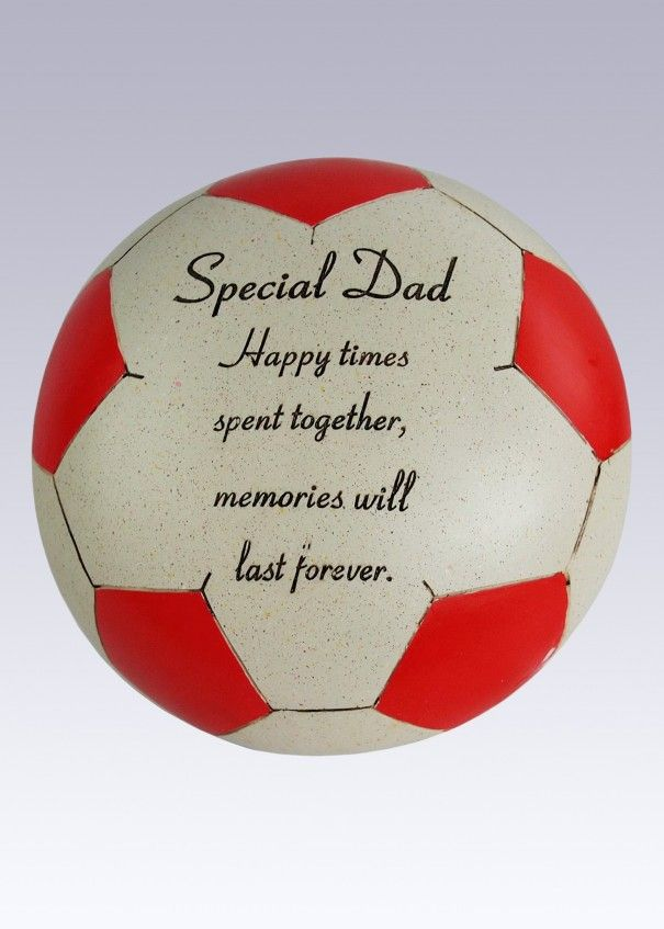 Football Red and White Memorial - Dad