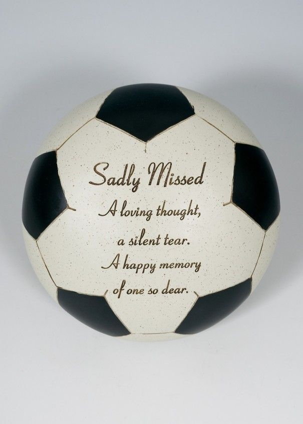 Football Black and White Memorial - Sadly Missed