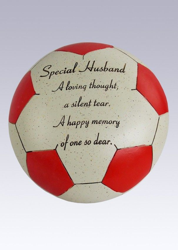 Football Red and White Memorial - Husband