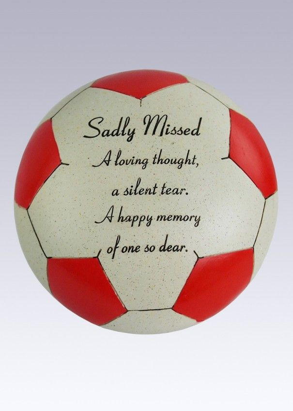 Football Red and White Memorial - Sadly Missed