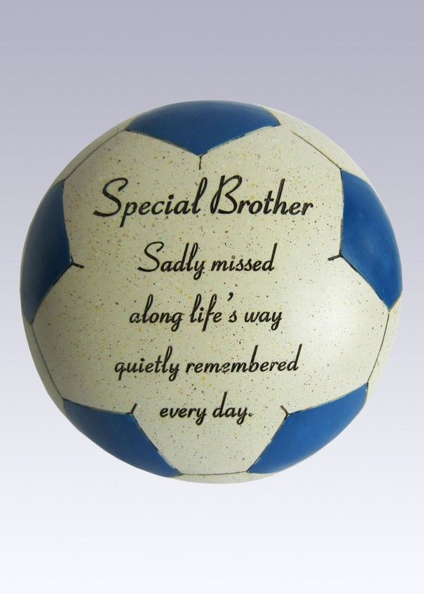 Football Blue and White Memorial - Brother