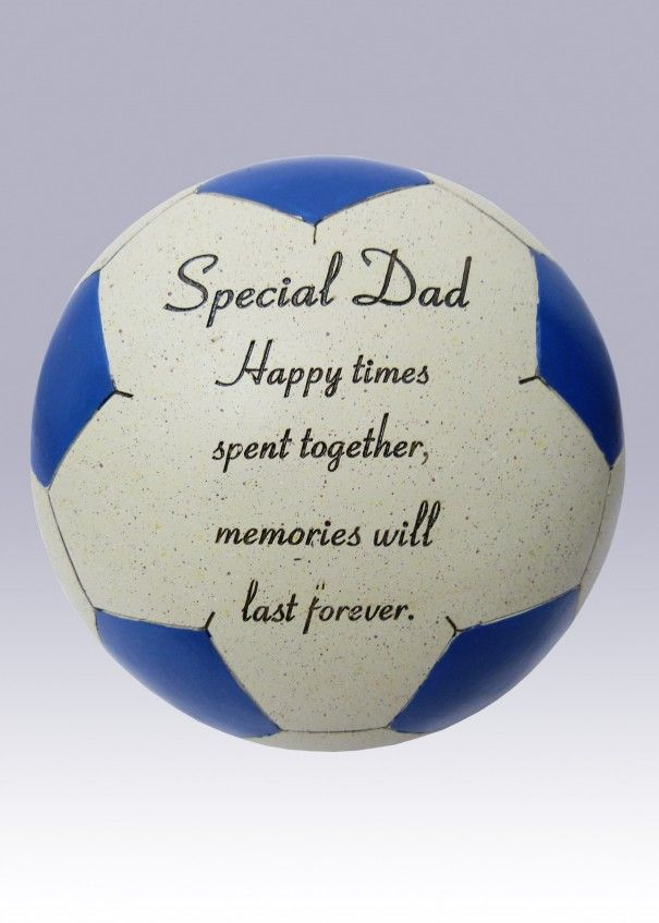Football Blue and White Memorial - Dad