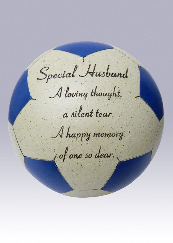 Football Blue and White Memorial - Husband