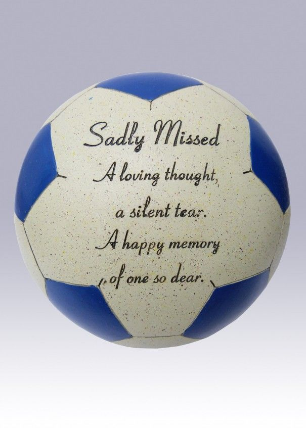 Football Blue and White Memorial - Sadly Missed