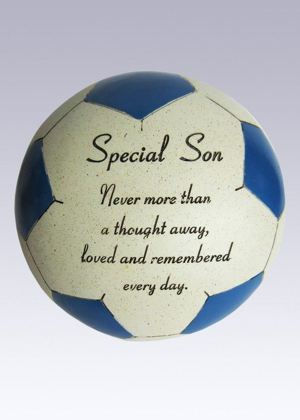 Football Blue and White Memorial - Son