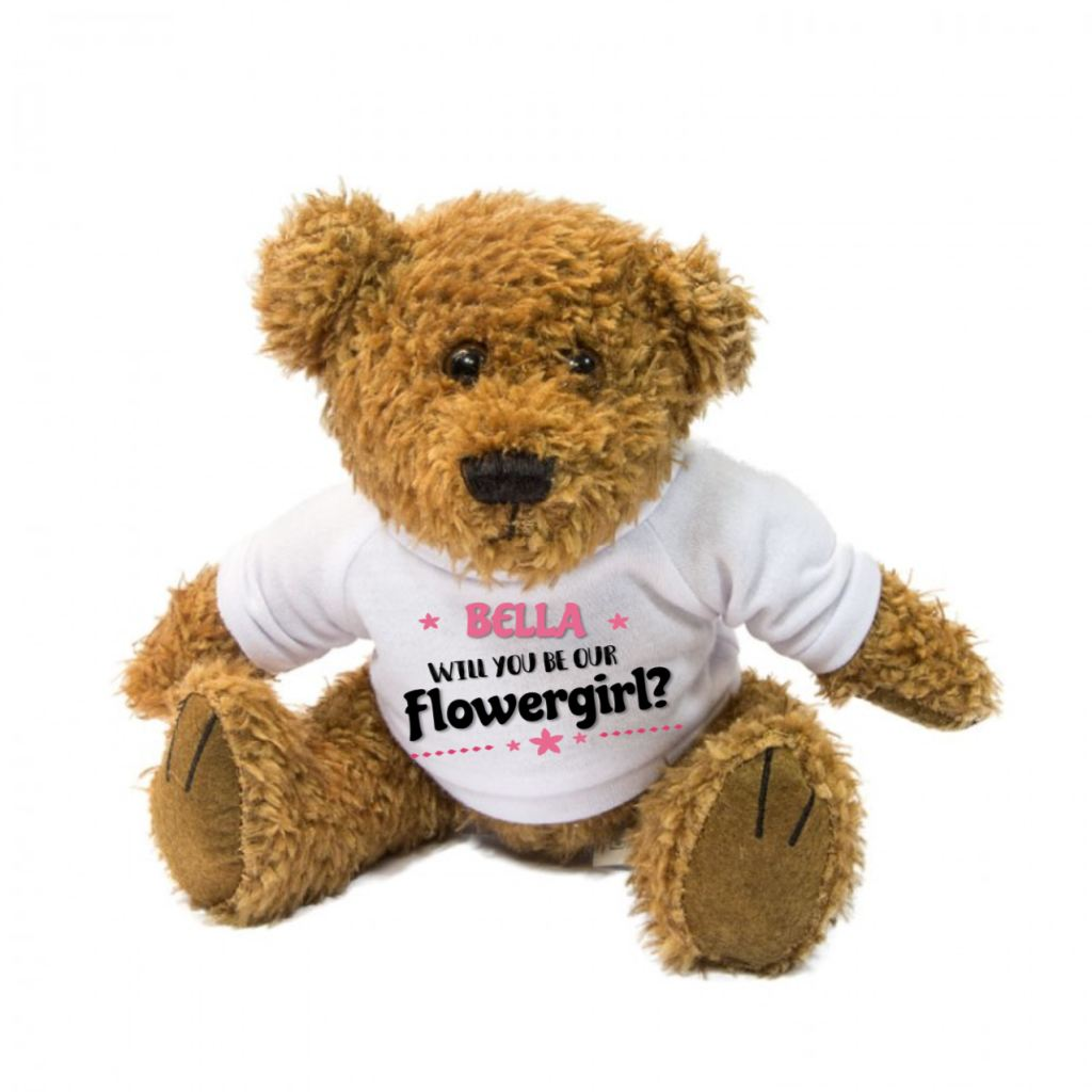 Will You Be Our Flowergirl? Personalised Teddy Bear