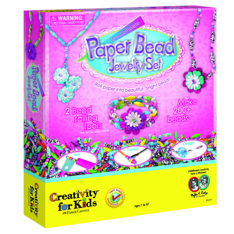 Complete Paper Bead Jewellery Set by Creativity for Kids