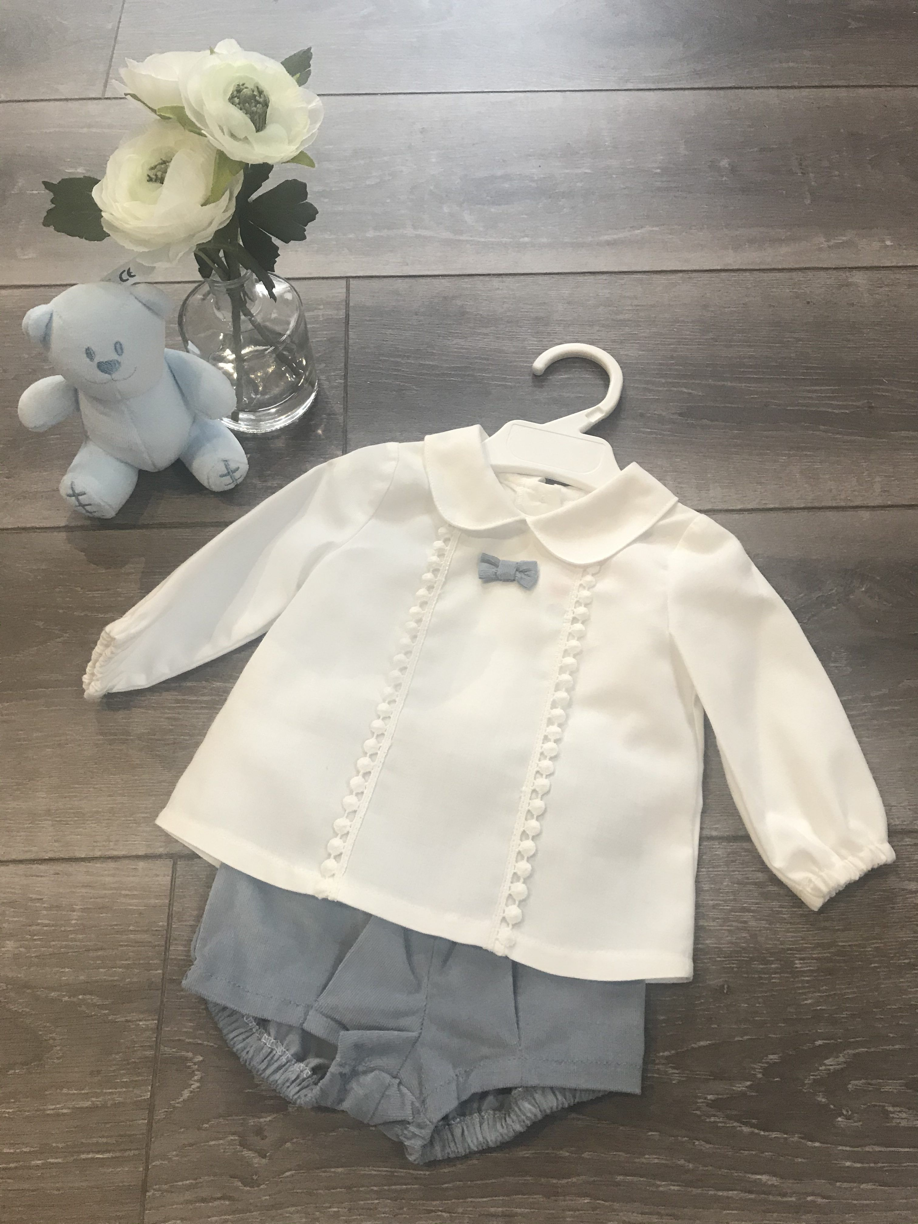 Alber Baby Boy Shirt with bowtie & Shorts