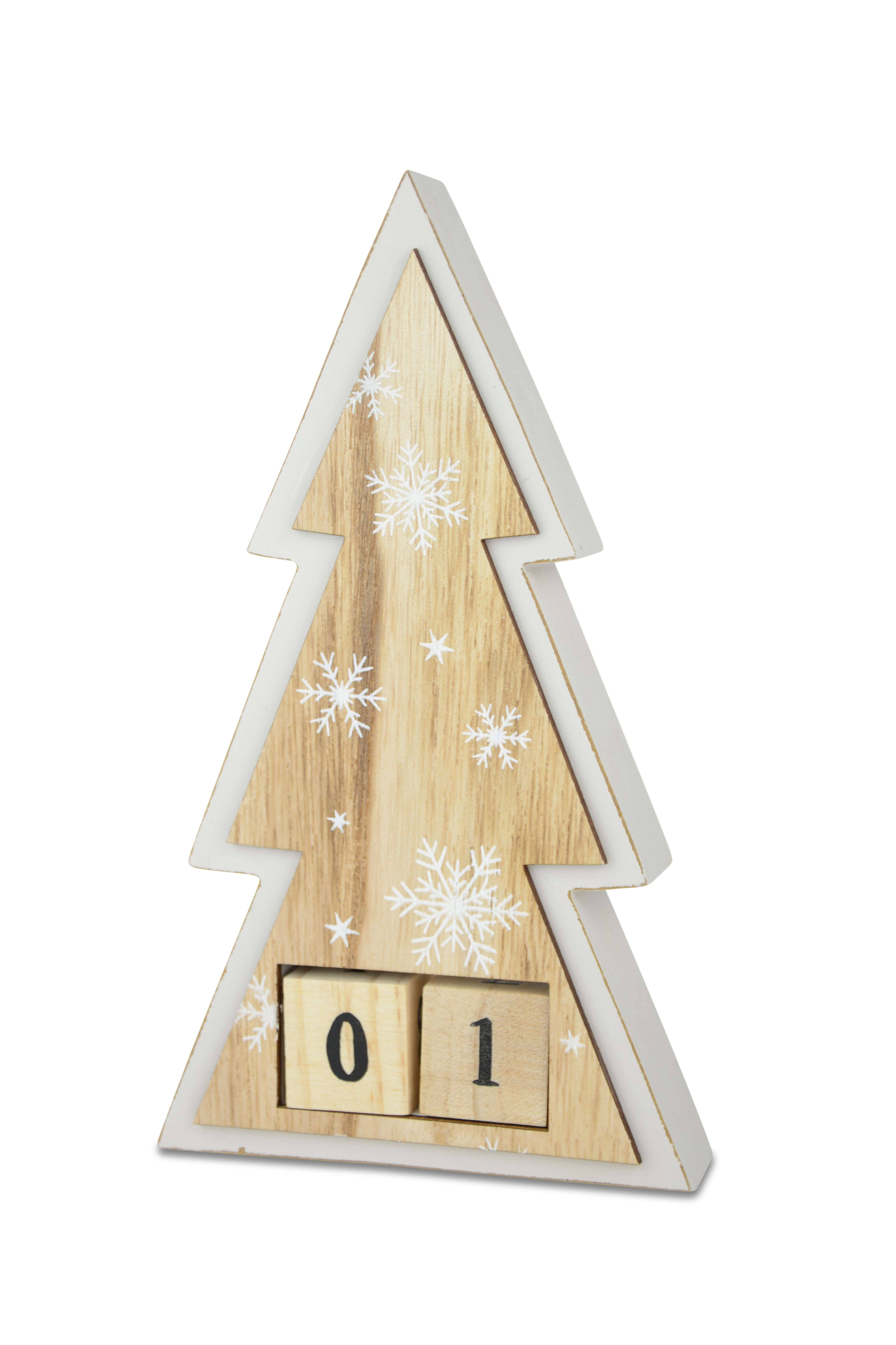 Countdown 12 days of Christmas - wooden tree