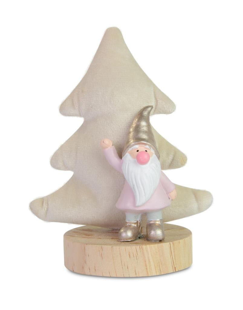 Gnome & Tree, table top ornament - wooden