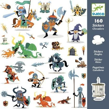 Djeco Paper Stickers - Knights