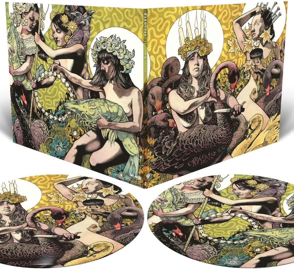 Baroness - Yellow And Green Picture Disc LP Released 23/10/20