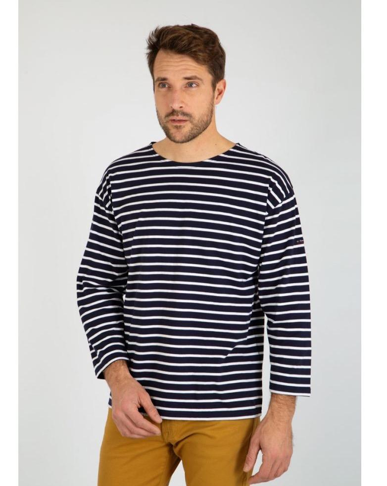 Armor Lux - Striped Quarter Sleeve Top Light Cotton - Navy/Natural 3/M