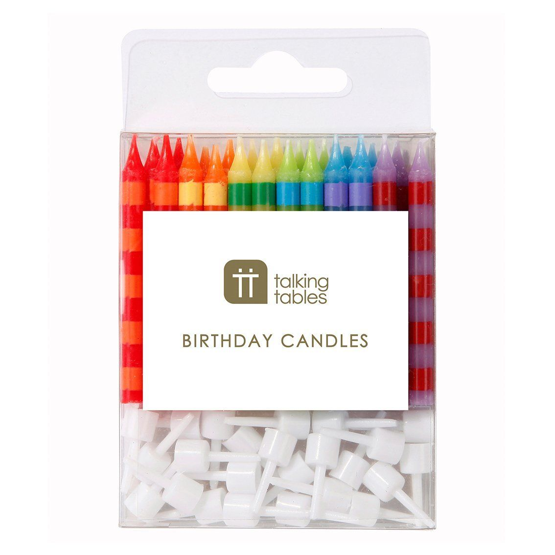 Birthday Bash Striped Candles - Talking Tables