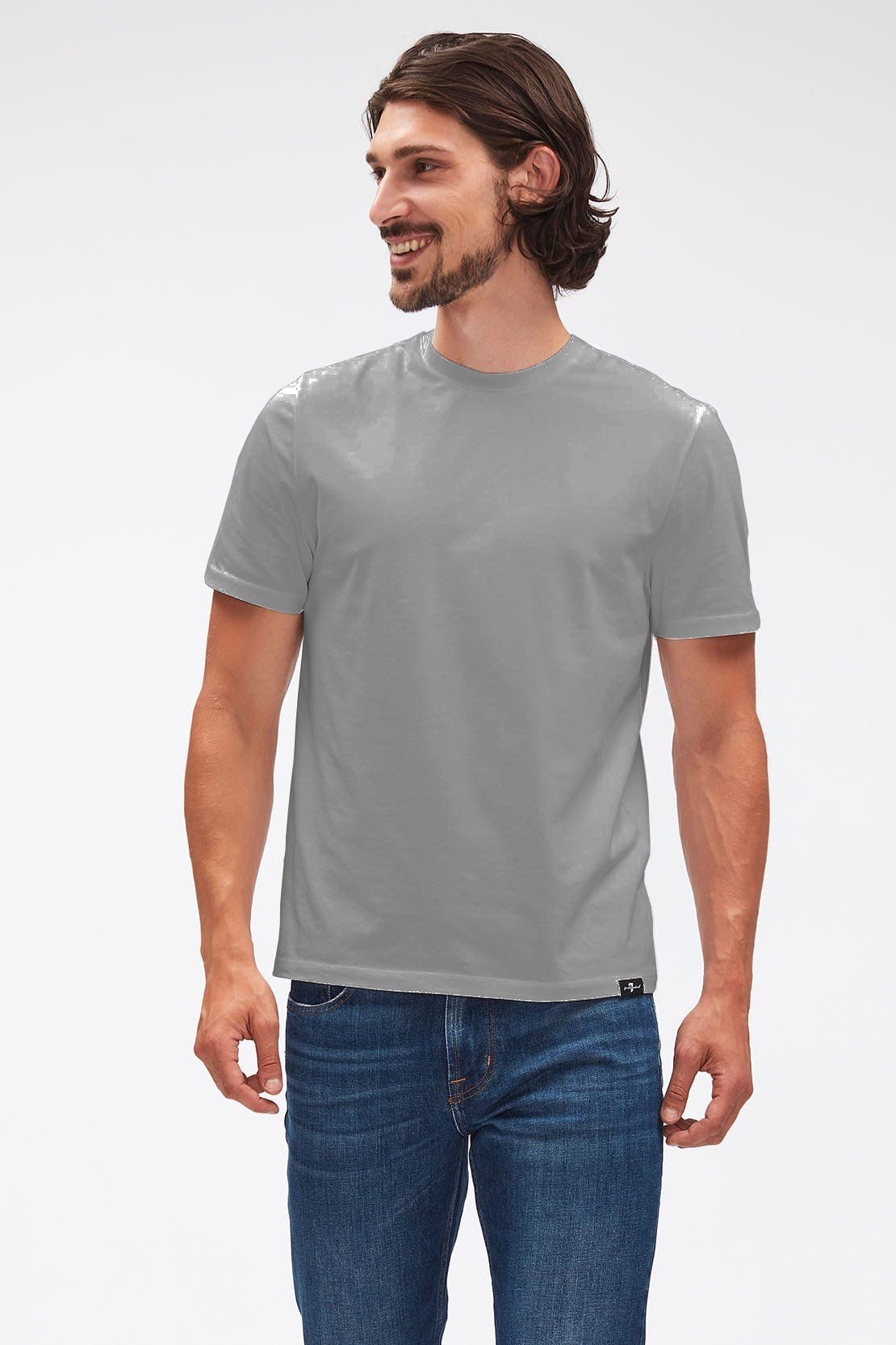 7 For All Mankind - Grey Luxe Performance T-shirt JSIM2370GM L