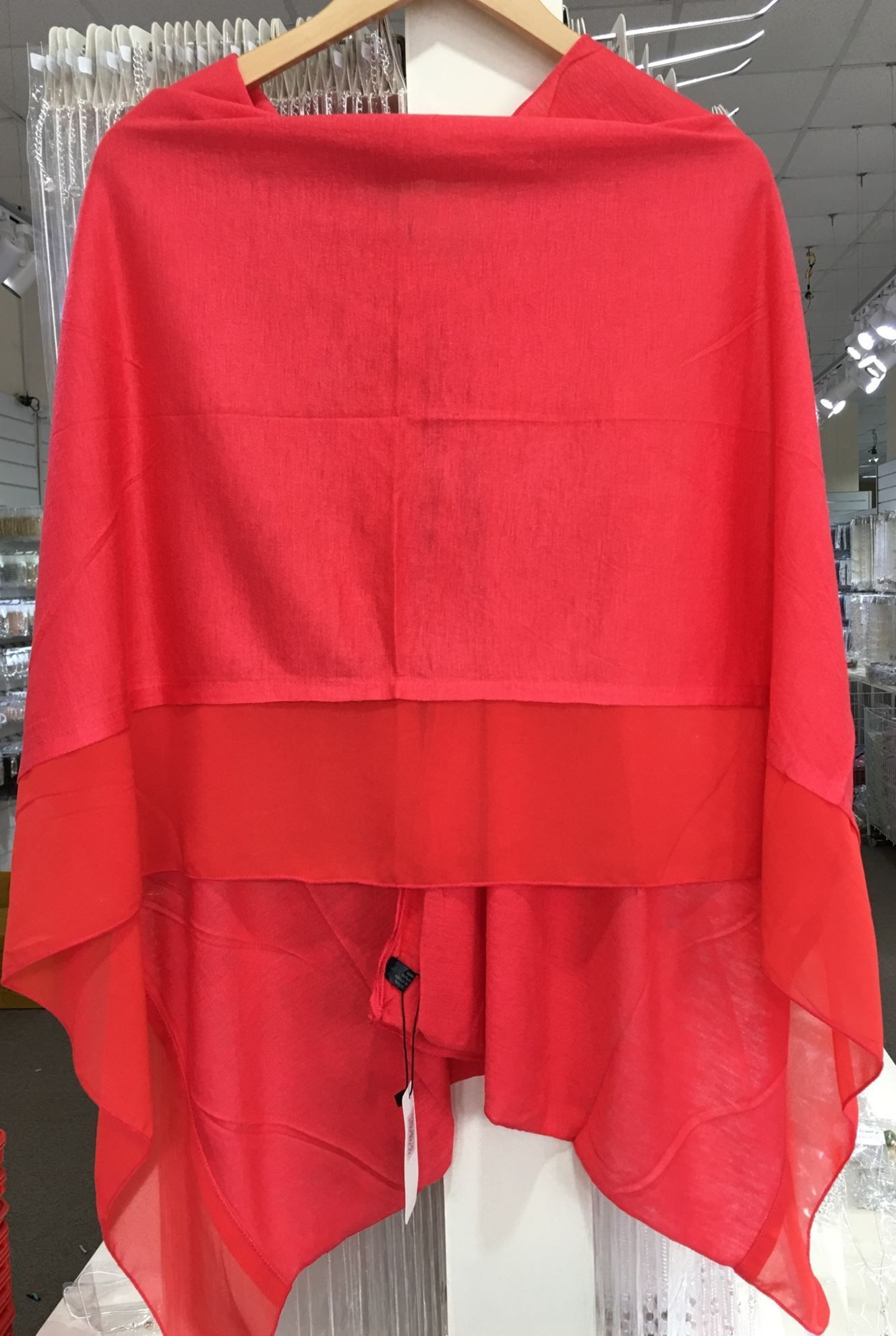 Hot Red Poncho