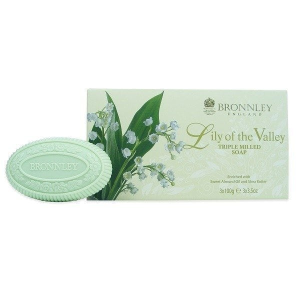 Bronnley Lily of The Valley Soap 3 x 100g
