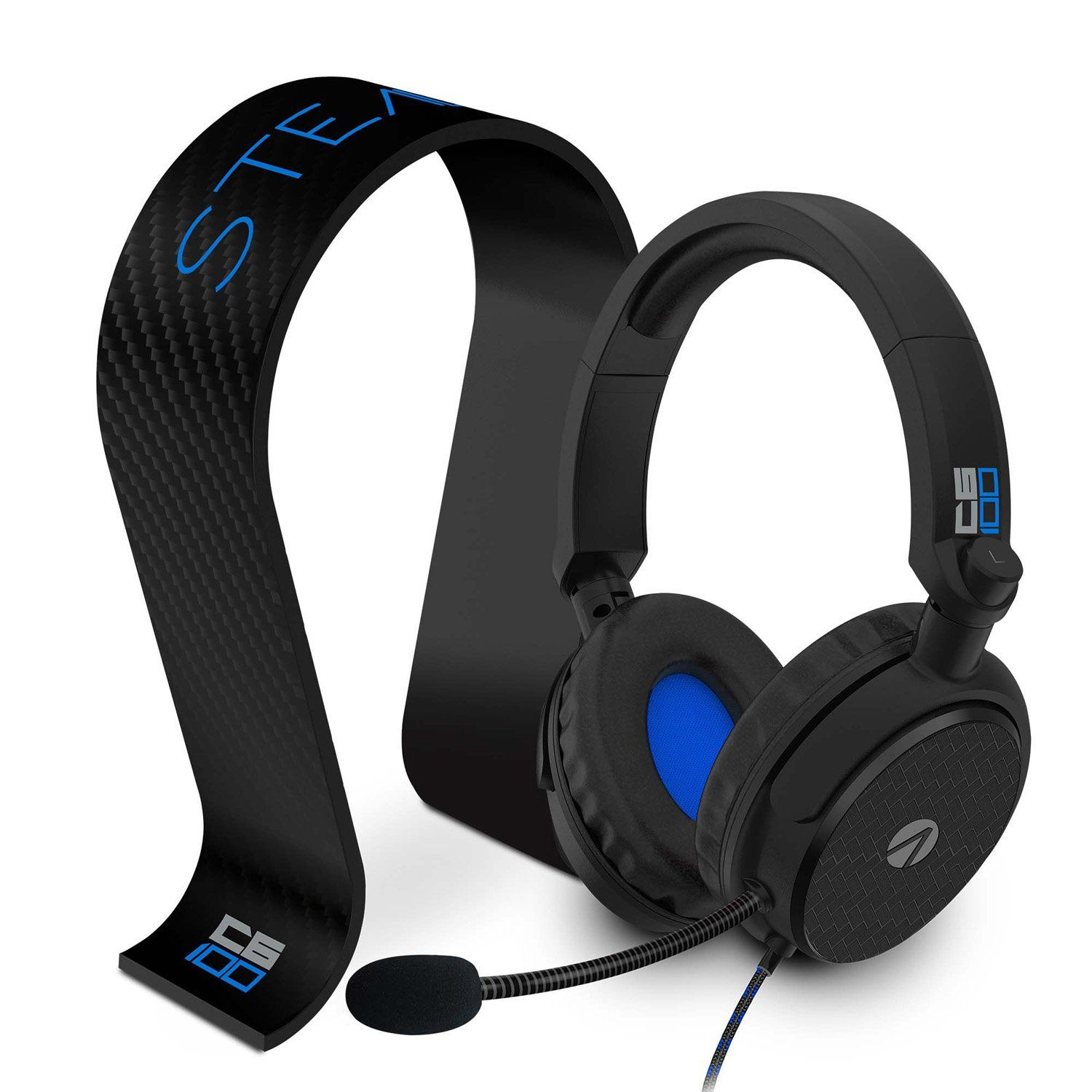 STEALTH C6-100 Stereo Gaming Headset & Stand - Black & Blue