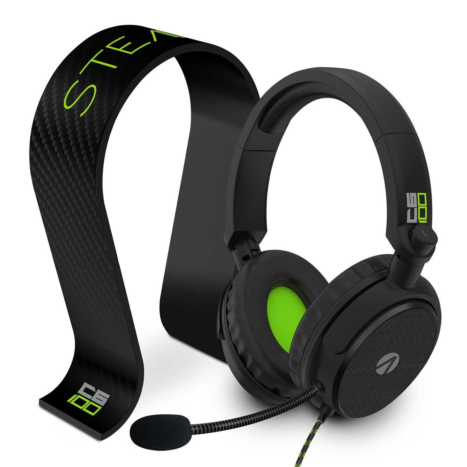 STEALTH C6-100 Stereo Gaming Headset & Stand - Black & Green