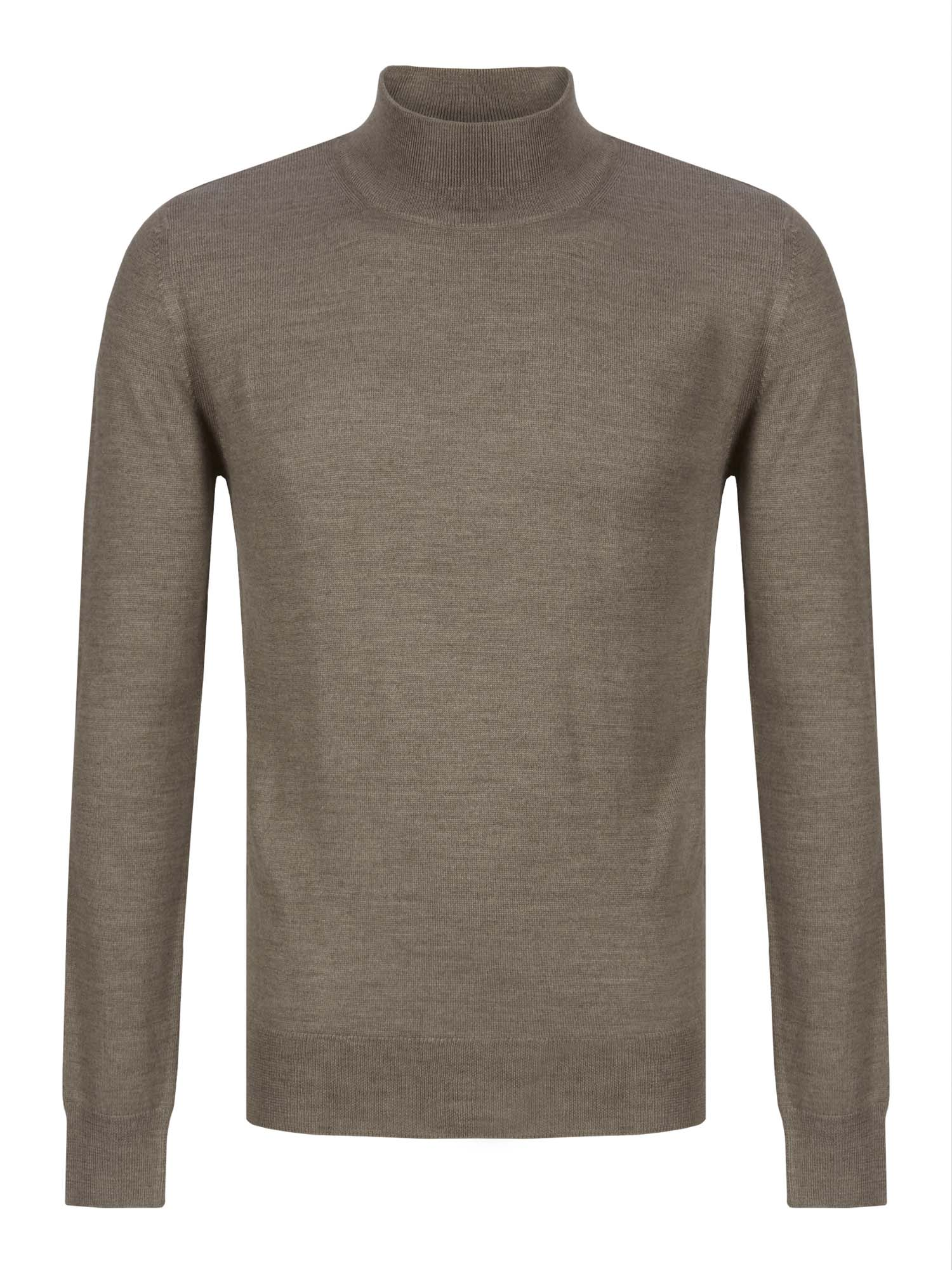Taupe Turtle-Neck Jumper 2XL