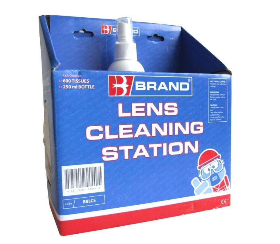 B-Brand Lens Cleaning Station For Safety Glasses - Bblcs One Size