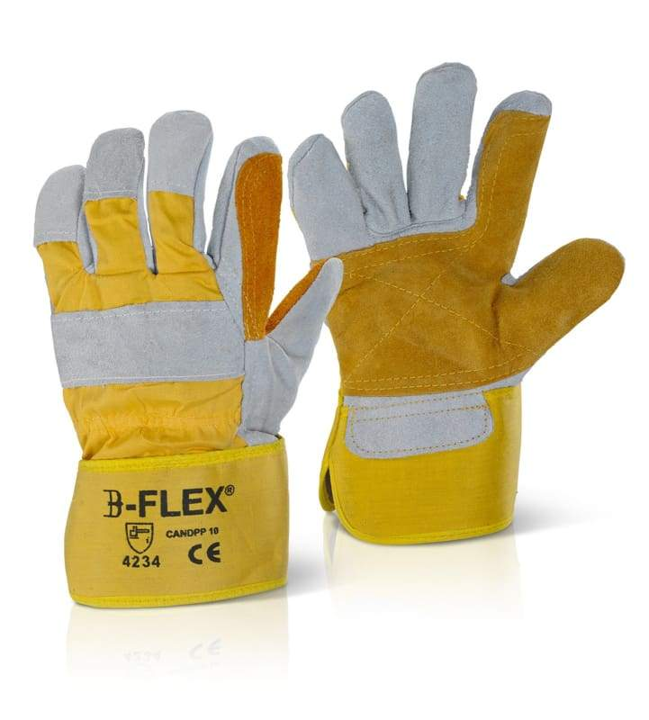 B-Flex Double Palm Heavy Duty Rigger Style Glove (Pack Of 60) - Candpp One Size
