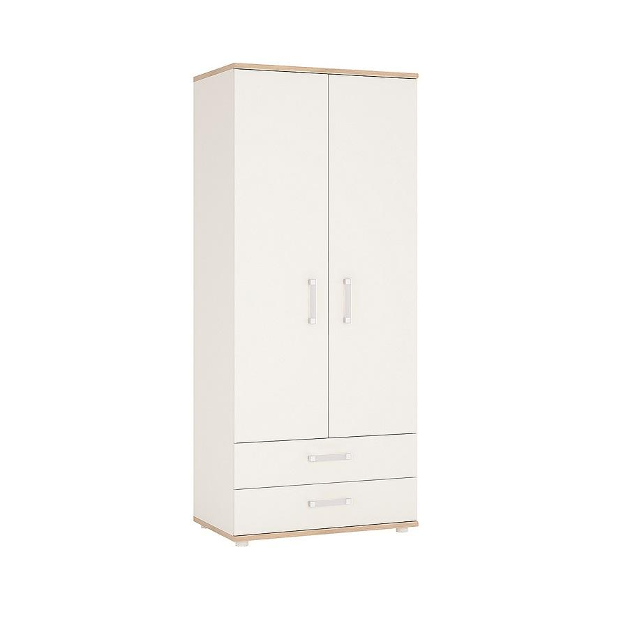 Childrens Double Wardrobe with 2 Drawers - Opalino