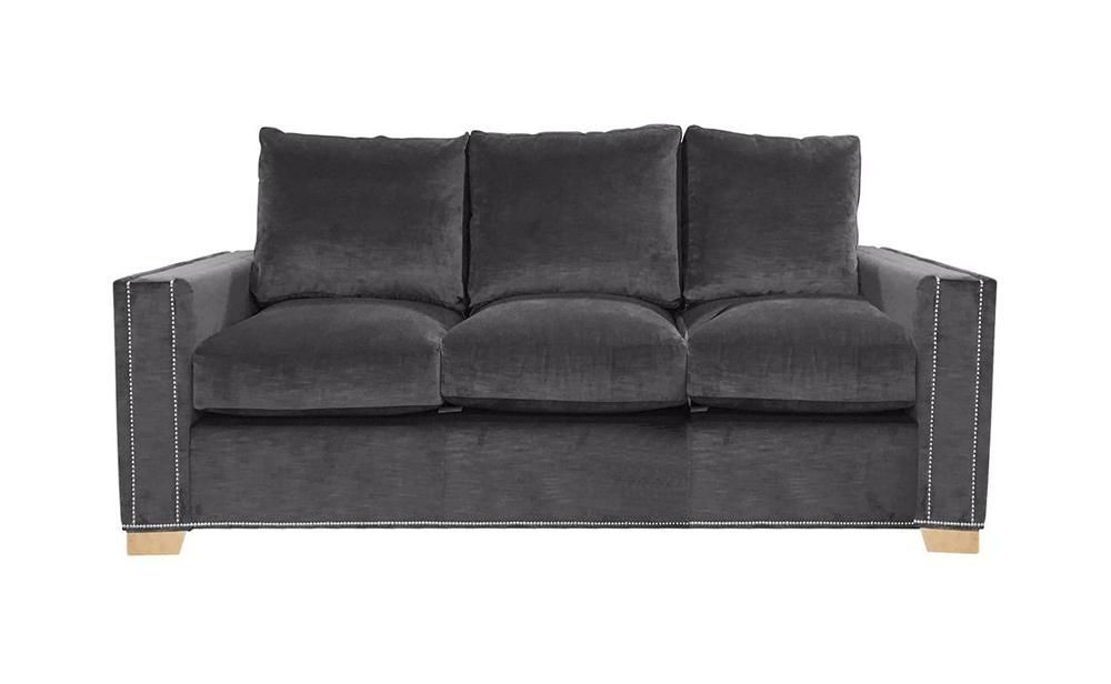 Harvey Collection Oliver 3 Seater Sofa - Grey