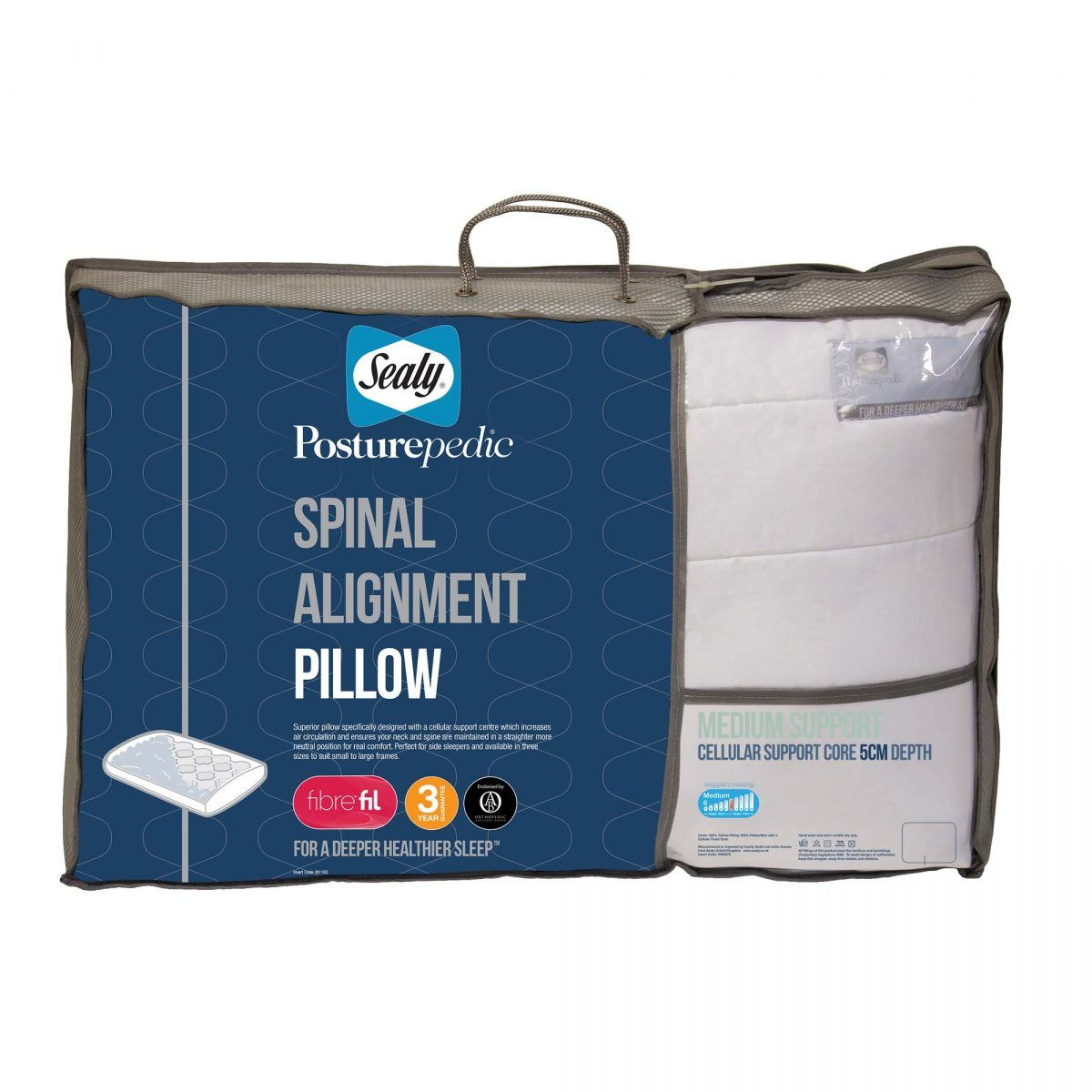 Sealy Spinal Alignment Pillow – 5cm