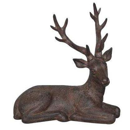 Sitting Stag Ornament - Brown 34.5cm