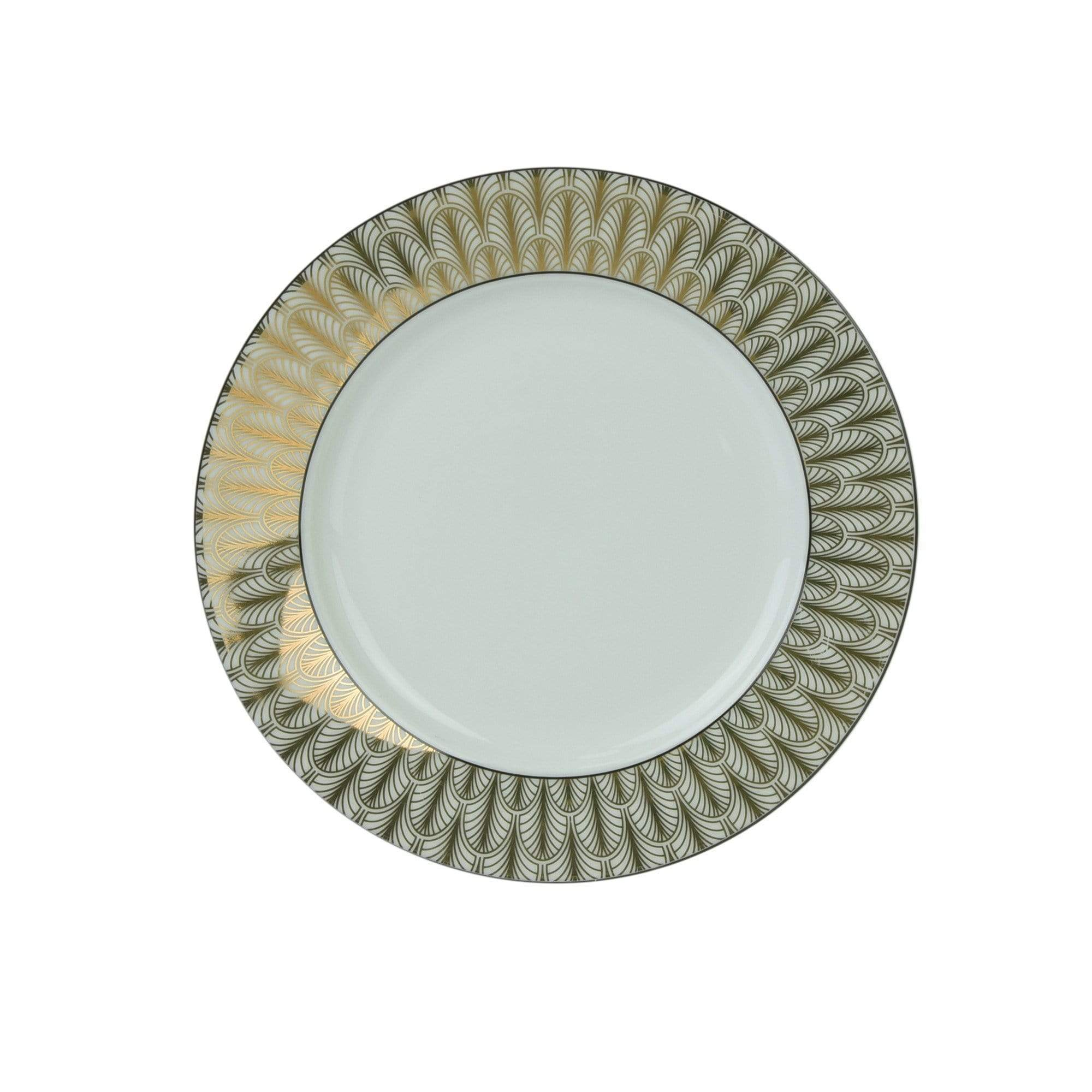 Deco Glam Side Plate with Feather Detail - Black and Gold
