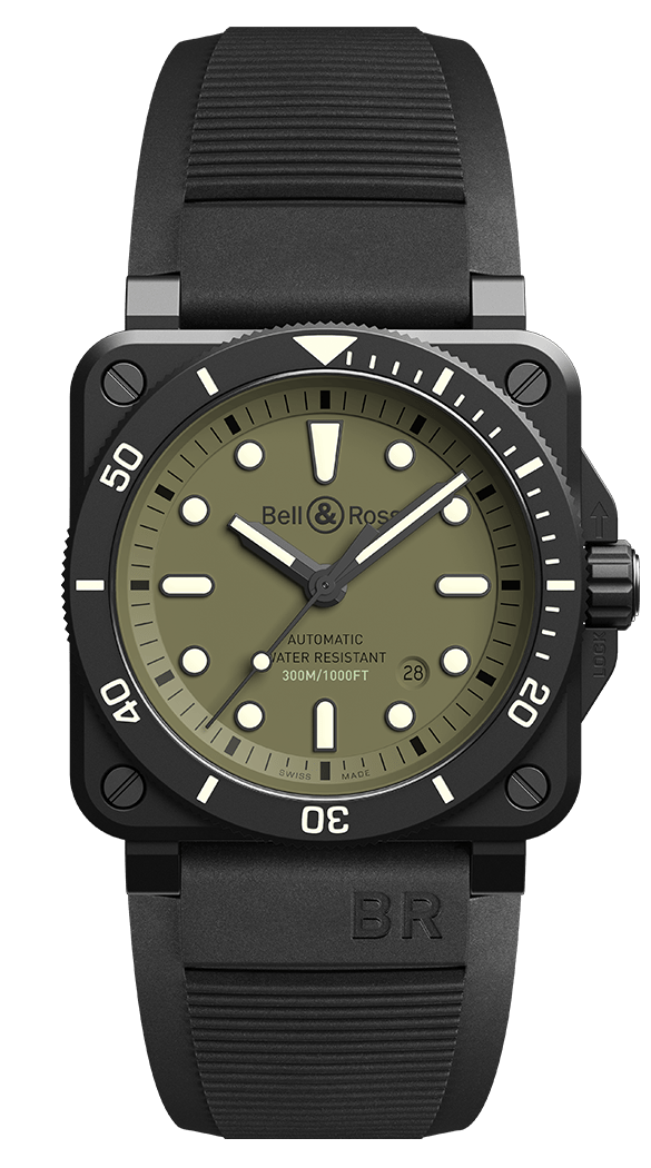 Bell & Ross BR 03 92 Diver Watch Military LIMITED EDITION
