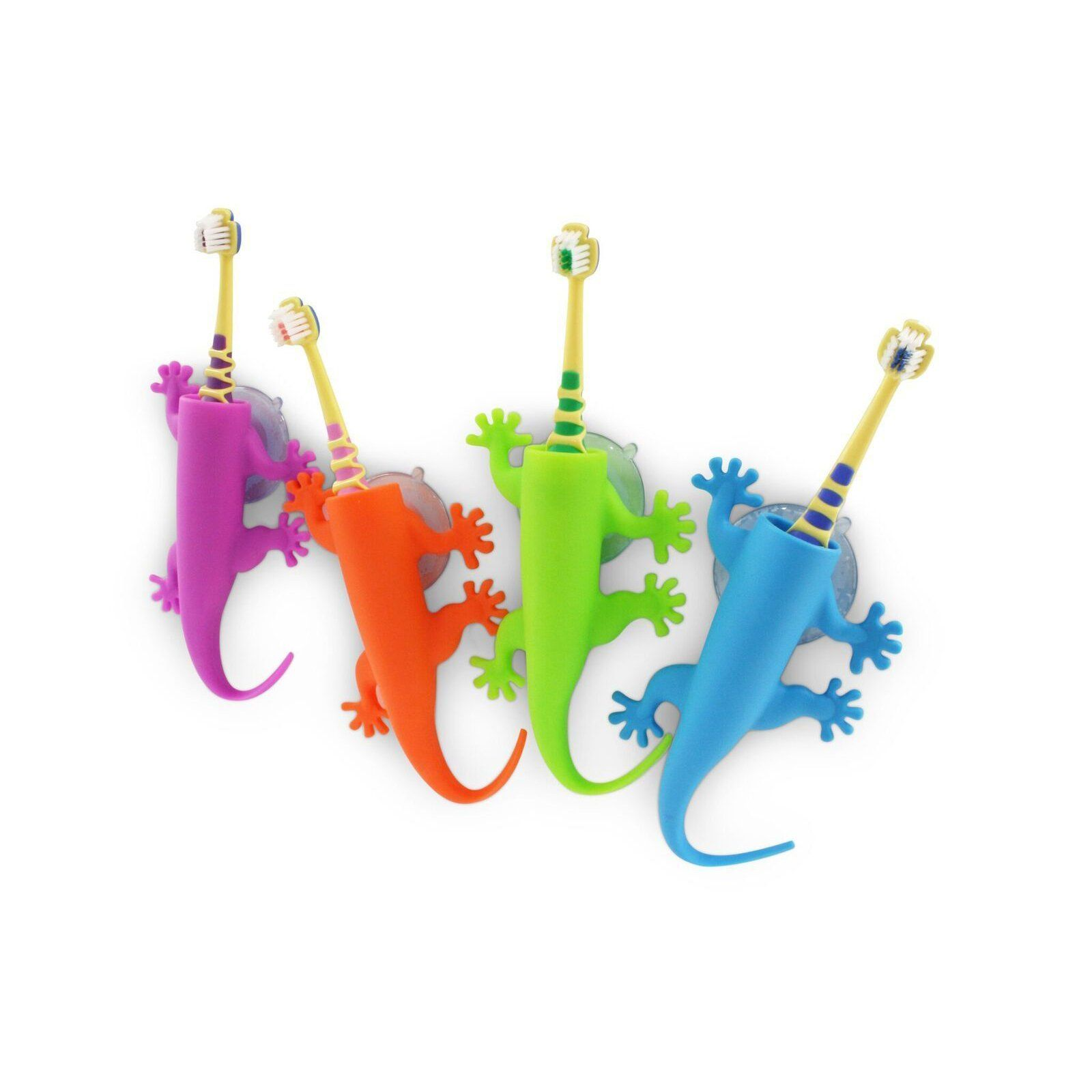 Larry the lizard toothbrush holder   Four colours Purple