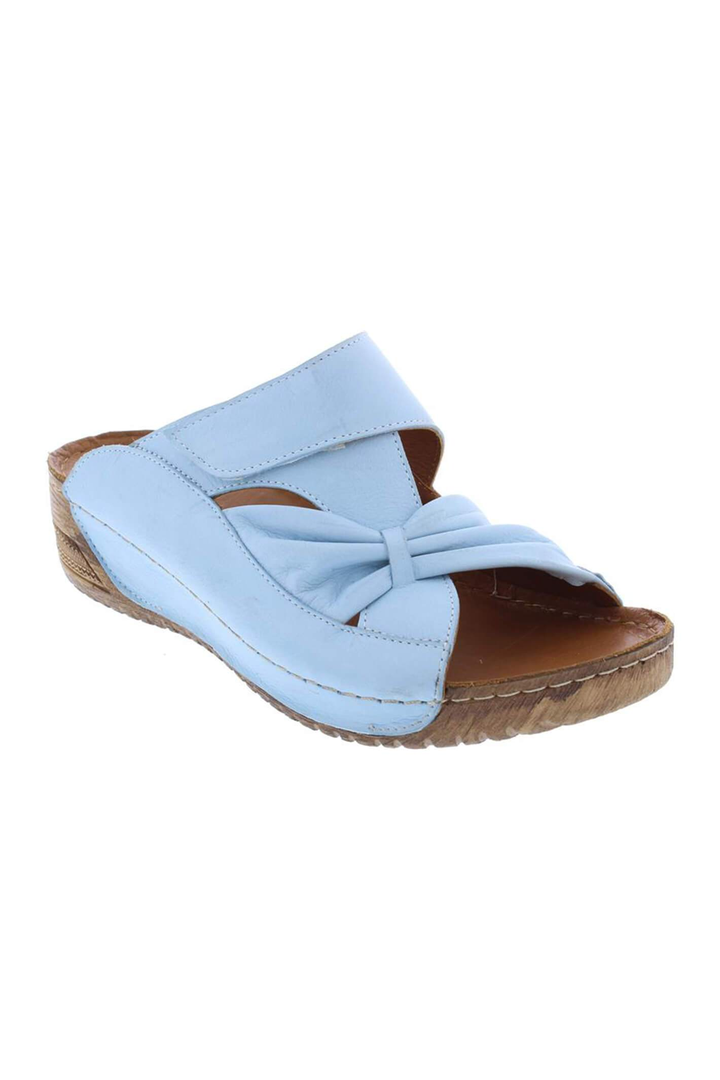 Adesso A6055 Lexi Soft Blue Bow Leather Mule 38 R